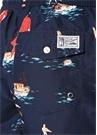 Lacivert Karışık Desenli Logo Nakışlı Mayo