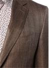 Drop 6 Kahverengi Kelebek Yaka Yün Ceket