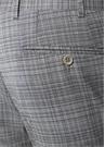 Drop 6 Gri Ekose Desenli Yün Pantolon