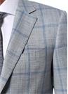 Drop 6 Gri Kareli Kelebek Yaka Yün Takım Elbise