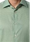 Yeşil Mikro Geometrik Desenli Gömlek