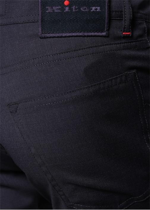 Lacivert Normal Bel Boru Paça Yün Pantolon