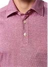 Pembe Desenli Polo Yaka Sweatshirt