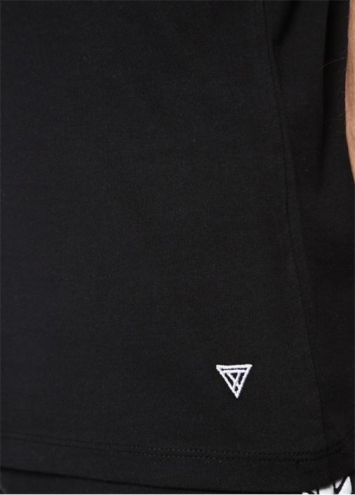 Need Siyah Bisiklet Yaka Baskılı Basic T-shirt