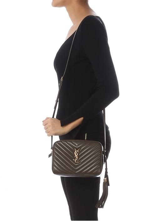 Lou Kahverengi Kapitoneli Kadın Deri Çanta