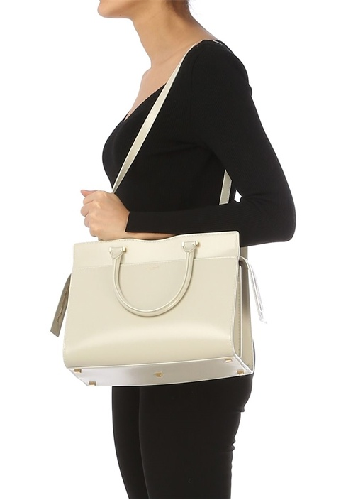 Uptown Medium Beyaz Kadın Deri Çanta