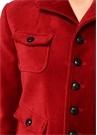Kırmızı Kelebek Yaka Kısa Kadife Ceket