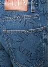VLTN Straight Fit Mavi Logo Baskılı Jean Pantolon