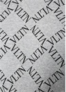 Gri Siyah Logo Baskılı Kapüşonlu Sweatshirt