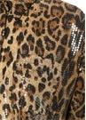 Vivenne Leopar Desenli İşlemeli Düşük Kol Bluz