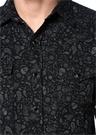 Siyah Gri Mikro Desenli Gömlek