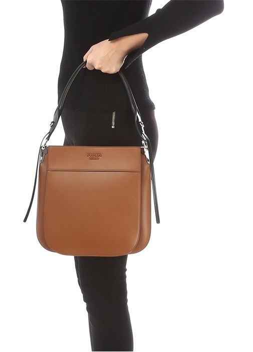 Margit Taba Logolu Kadın Deri Çanta