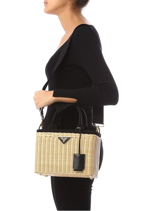 Bej Kadın Hasır Çanta