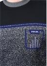 Mavi Siyah Logo Jakarlı Triko