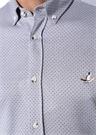 Slim Fit Gri Mikro Desen Jakarlı JerseyGömlek