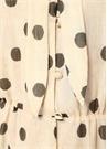 Zahara Krem Siyah Puanlı Midi Şifon Elbise