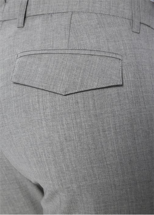 Platinum Gri Normal Bel Keten Pantolon