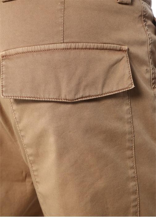 Taba Yüksek Bel Boru Paça Kargo Pantolon