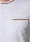 Regular Fit Gri Rib Detaylı T-shirt