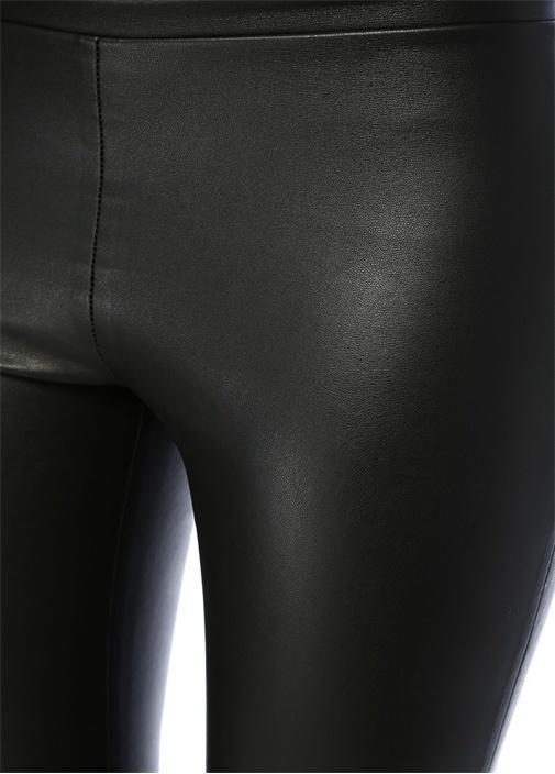 Isla Siyah Suni Deri Streç Pantolon