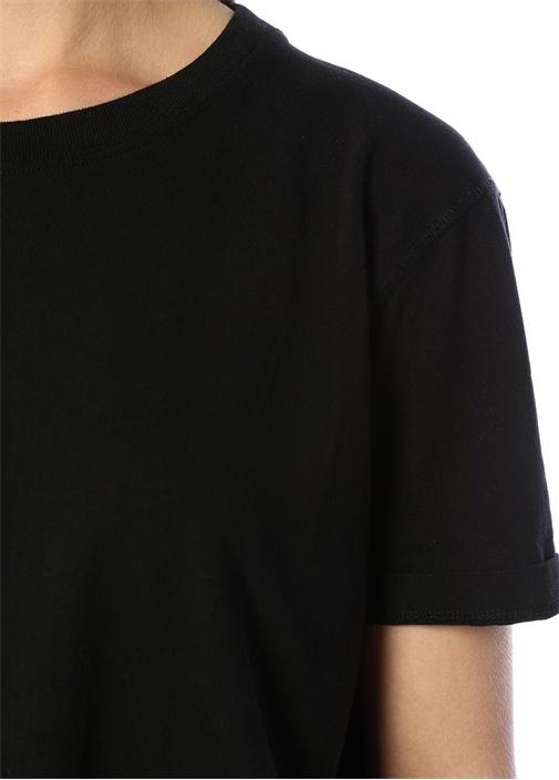 Exiastreet Siyah Bisiklet Yaka OversizeT-shirt