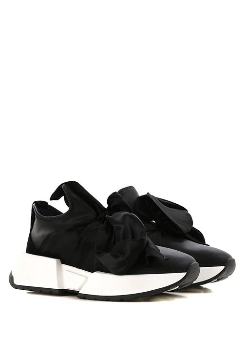 Siyah Fiyonk Detaylı kadın Sneaker