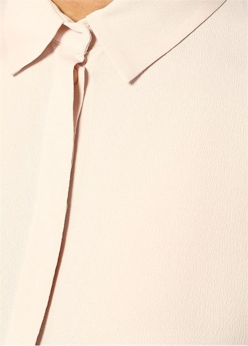 Pudra Zincir Şeritli Yırtmaçlı Düşük Kol Tunik