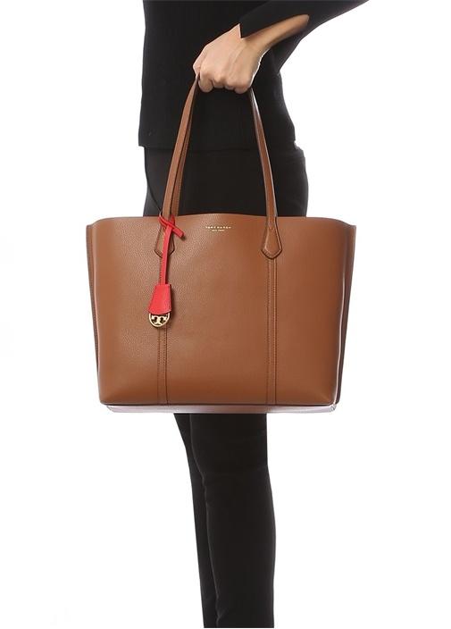 Perry Taba Logolu Kadın Deri Alışveriş Çantası
