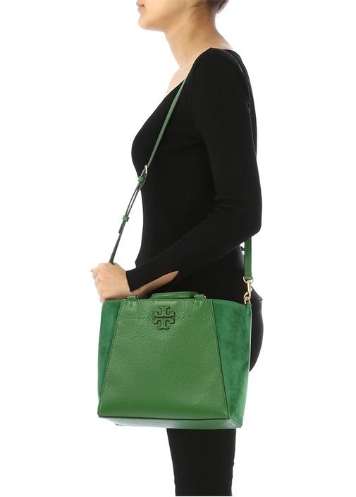 Mcgraw Mixed Small Yeşil Kadın Deri Omuz Çantası