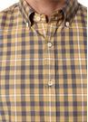 Sarı Düğmeli Yaka Ekoseli Gömlek