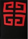 Siyah Bisiklet Yaka Kontrast Logolu Kazak