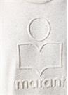 Miko Ekru Logo Kabartmalı Sweatshirt