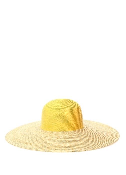 Bej Sarı Kadın Hasır Şapka