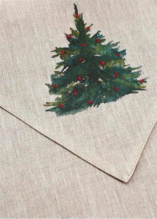 Bej Ağaç Desenli Unisex Çanta