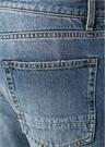 Mavi Yüksek Bel Yıpratma Detaylı Jean Pantolon