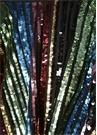 Rainbow İşlemeli Çizgili Volanlı Midi Abiye Etek