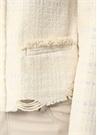 Wondrous Ekru Püskül Detaylı Tweed Ceket