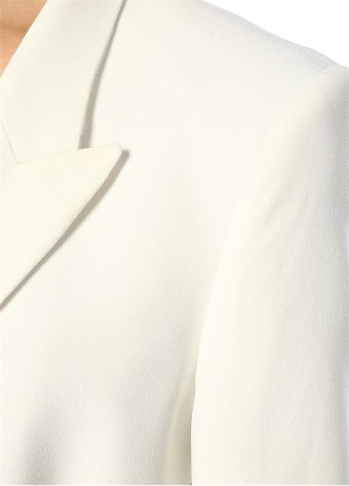 Sensitive Beyaz Ceket Formlu Mini Kruvaze Elbise