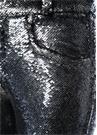 Marvelyo Antrasit Payet İşlemeli Pantolon