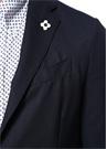 Lacivert Silik Ekose Desenli Yün Takım Elbise