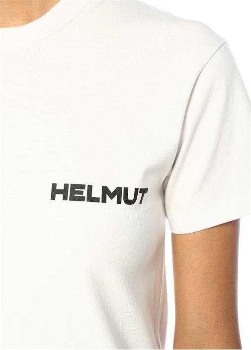 Little Beyaz Siyah Logo Baskılı T-shirt