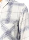 Allison Beyaz Ekose Desenli Gömlek