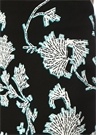 Kara Siyah Çiçek Desenli Midi Kalem Etek