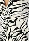 Tonya V Yaka Zebra Desenli Midi Elbise