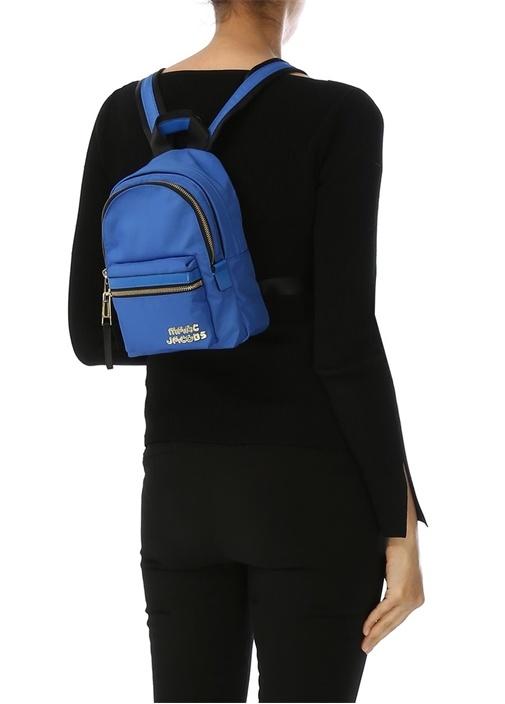 Mavi Logolu Kadın Sırt Çantası