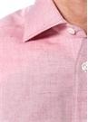 Pembe İngiliz Yaka Keten Gömlek