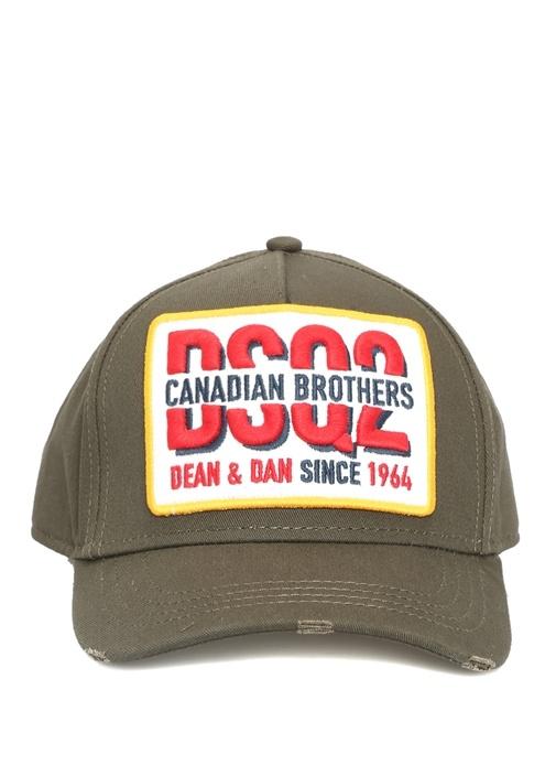 Haki Patchli Logolu Erkek Şapka