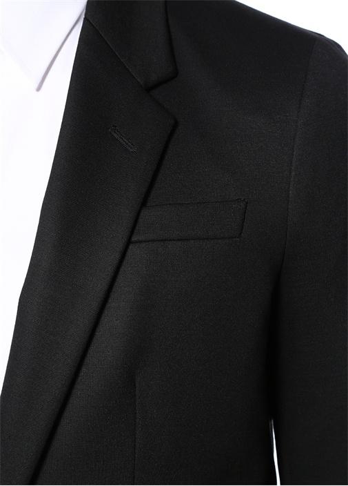 Siyah Kelebek Yaka Ceket