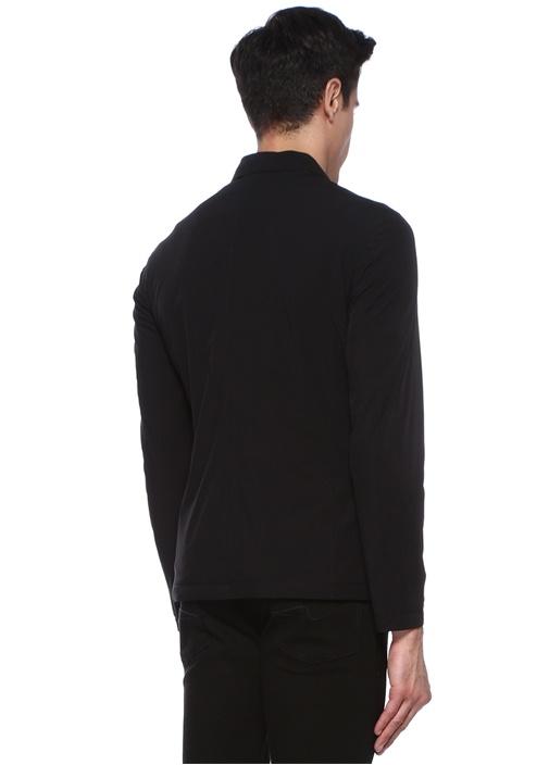 Tebaldo Siyah Dik Yaka Dış Ceket
