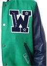 Yeşil Mavi Patchli Logolu Kaşe Bomber Mont